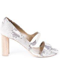 Hermès Python Heeled Sandals - Multicolour