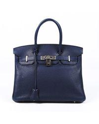 Hermès Birkin 30 Blue Obscurs Clemence Handbag