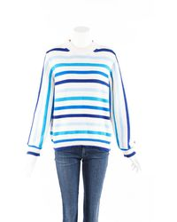 Chinti & Parker Breton Blue Striped Cotton Knit Jumper Blue/white Sz: M