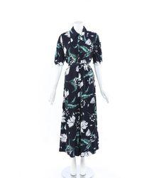 Erdem 2019 Edwin Floral Jumpsuit - Blue