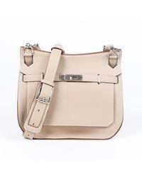 Hermès Jypsiere Beige Leather Handbag - Natural