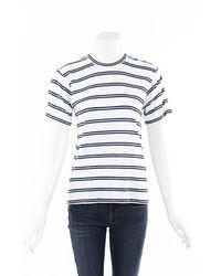 Derek Lam - 10 Crosby Blue White Striped Linen T-shirt - Lyst