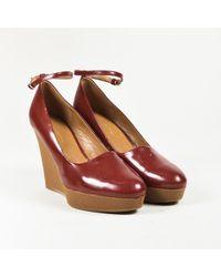 3.1 Phillip Lim - Phillip Lim Red Leather Rubber Platform Wedge Heel Pumps - Lyst