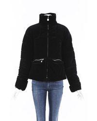 Chanel Identification Corduroy Puffer Jacket - Black