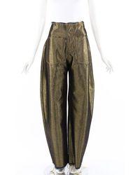 Marques'Almeida Gold Coated Wide Leg Jeans Gold Sz: S - Metallic