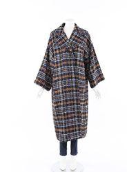 Chanel Fantasy Tweed Convertible Coat Blue/multicolor Sz: M