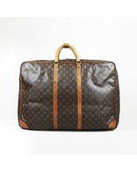 "Louis Vuitton - Vintage Brown Monogram Coated Canvas Leather Trim ""sirius 70"" Bag - Lyst"
