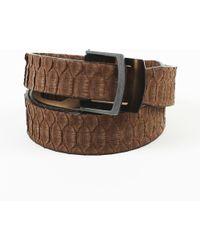 Brunello Cucinelli - Brown Snakeskin Belt - Lyst