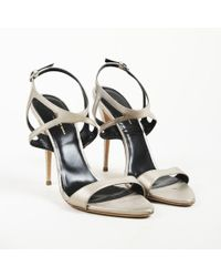Narciso Rodriguez - Metallic Leather Ankle Strap Sandals - Lyst
