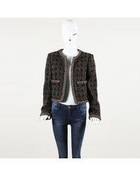 Chanel Tweed Open Front Jacket - Black