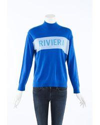 Chinti & Parker Riviera Cashmere Knit Sweater Blue/white Sz: Xs