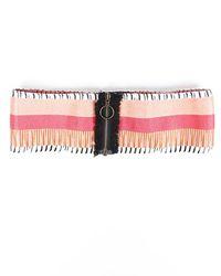 Missoni Striped Waist Belt Orange/multicolor Sz: L - Pink