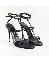 "Tom Ford - ""cage"" Leather Strappy Sandals - Lyst"
