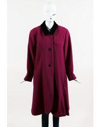 Dior - Magenta Purple & Black Colorblock Buttoned Coat - Lyst