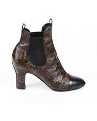 Louis Vuitton Revival Monogram Ankle Boots - Brown