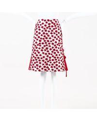 Leur Logette - Red White Printed Knee Length Skirt - Lyst