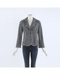 Chanel Printed Tweed Jacket - Blue