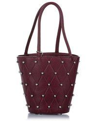 Alexander Wang Roxy Studded Leather Bucket Bag - Red