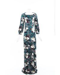 Erdem Etheline Floral Jersey Gown - Green