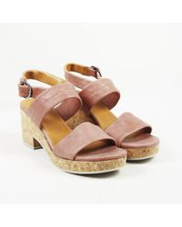Coclico - Pink Leather Strappy Platform Sandals - Lyst
