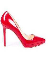 a6ea2c59c36 Patent Leather Pointed Court Shoes - Red