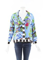 Stella Jean Hawaiian Shirt Blue/multicolor Sz: M