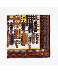 Hermès Collier De Chien Cashmere Silk Shawl - Brown