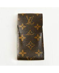 Louis Vuitton - Brown Monogram Coated Canvas Phone Case - Lyst