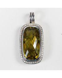 "David Yurman - Sterling Silver Diamond Lemon Citrine ""albion"" Pendant - Lyst"