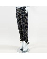 Jean Paul Gaultier - Blue Beige Knit Printed Jogger Pants - Lyst