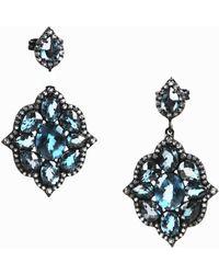 Unbranded - Nwot Blue & White Topaz Sterling Silver Drop Earrings - Lyst
