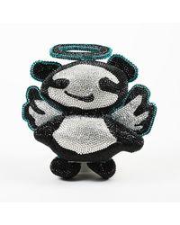 Jimmy Choo X Rob Pruitt Swarovski Angel Panda Minaudiere - Blue
