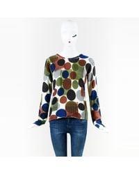 Lucien Pellat Finet - Multicolour Print Long Sleeve Cashmere Jumper - Lyst