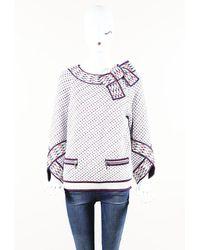 Chanel 2016 Airplane Silk Sweater - White