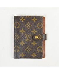 Louis Vuitton - Brown Monogram Coated Canvas Agenda Cover - Lyst