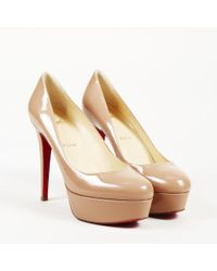 "Christian Louboutin - Patent Leather ""bianca 120"" Platform Pumps - Lyst"