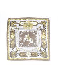 Hermès Lvdovicvs Magnvs Silk Scarf - Metallic