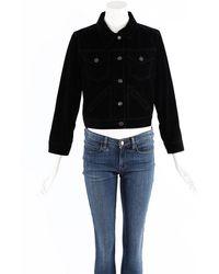 Marc Jacobs Velvet Buttoned Jacket - Black