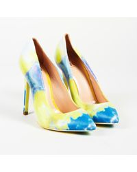 MSGM - Tie Dye Leather Pointed Court Shoes - Lyst