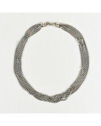 David Yurman - Sterling Silver 14k Gold Multi Stand Necklace - Lyst