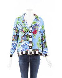Stella Jean Hawaiian Shirt - Blue