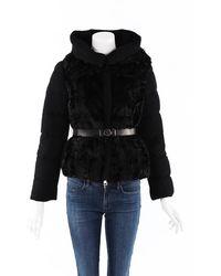 Moncler Phacelie Lamb Fur Puffer Coat - Black