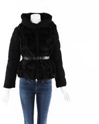 Moncler - Phacelie Lamb Fur Puffer Coat - Lyst