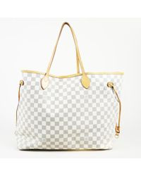 """Louis Vuitton - Damier Azur Coated Canvas """"neverfull Gm"""" Tote - Lyst"""