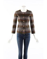 Chanel Striped Cashmere Knit Cardigan Jumper - Multicolour