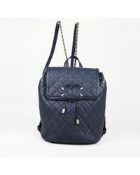 """Chanel - Quilted Caviar Leather """"filigree"""" Backpack - Lyst"""