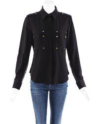 Tom Ford Silk Blouse Black Sz: S