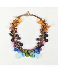 Stephen Dweck - Multicolour Gemstone Bead & Pearl Collar Necklace - Lyst