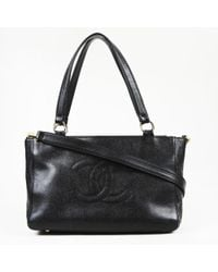 "Chanel - ""timeless"" Caviar Leather Satchel Bag - Lyst"