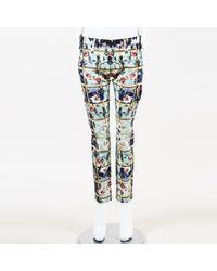 Mary Katrantzou - Floral Check Denim Jeans - Lyst